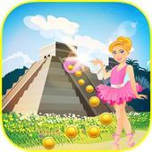 Gold Temple Ballerina Running Princess icon