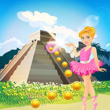 Gold Temple Ballerina Running Princess screenshot 2