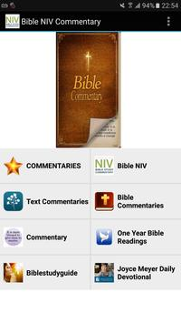 Bible NIV with Commentary poster