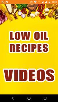 Low Oil Vegetarian Recipes  - Low Cholesterol Food poster