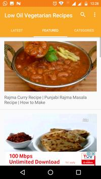 Low Oil Vegetarian Recipes  - Low Cholesterol Food screenshot 3