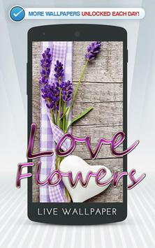Love Flowers Live Wallpaper poster