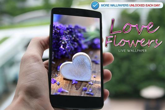 Love Flowers Live Wallpaper apk screenshot
