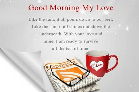 Love Good Morning Quotes Image poster