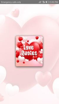 Love Quotes on Photos poster