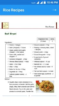 Rice Recipes apk screenshot