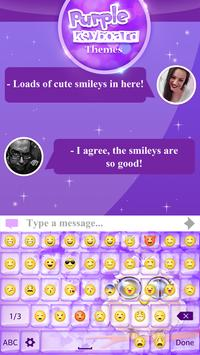 Purple Keyboard Themes screenshot 1