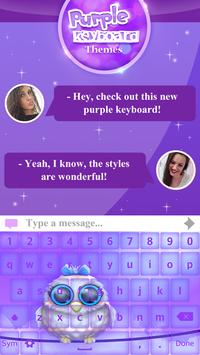 Purple Keyboard Themes screenshot 3
