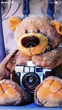 TeddyBear Screen Lock Cute Wallpaper Kawaii screenshot 1