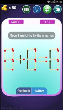 Amazing Puzzle matchstick apk screenshot