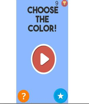 CHOOSE THE COLOR! poster