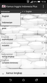 Indonesian English Dictionary+ apk screenshot