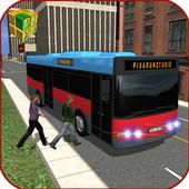 Public Coach Bus Drive Go icon