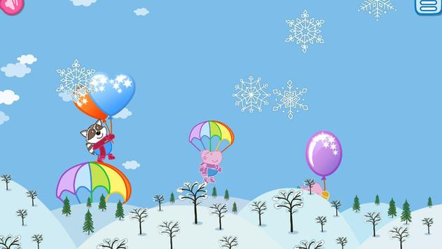 Pop Balloons: Winter games poster