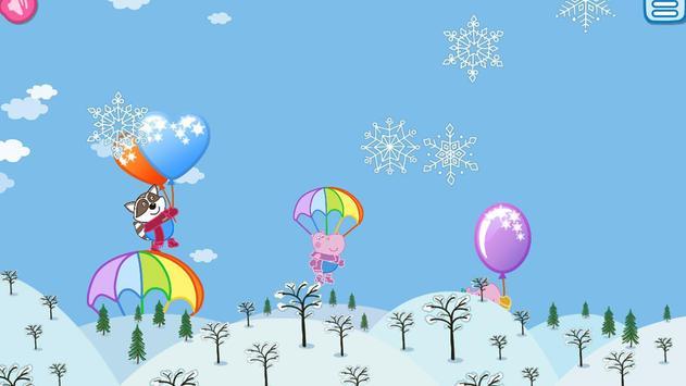 Pop Balloons: Winter games apk screenshot