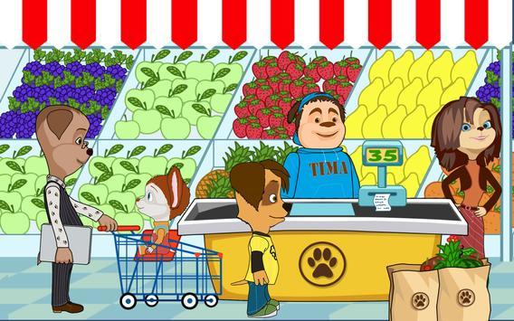 Pooches Supermarket: Family shopping apk screenshot