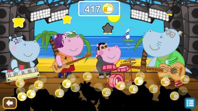 Kids music party: Hippo Super star screenshot 12