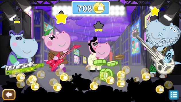 Kids music party: Hippo Super star screenshot 14