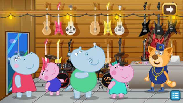 Kids music party: Hippo Super star screenshot 1