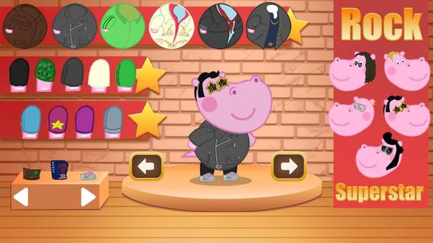 Kids music party: Hippo Super star screenshot 2
