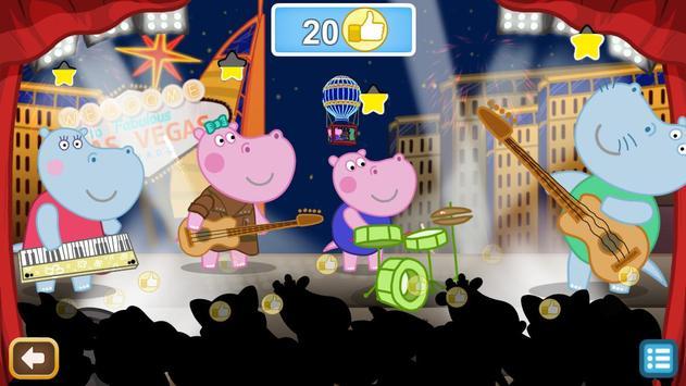 Kids music party: Hippo Super star screenshot 3
