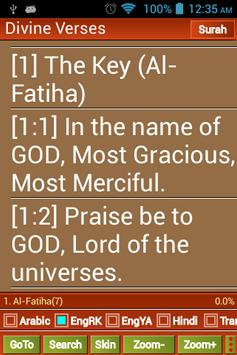 Quran English Hindi Arabic - Divine Verses poster