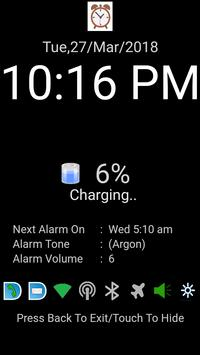 Night Clock with battery saving mode (160kb) poster