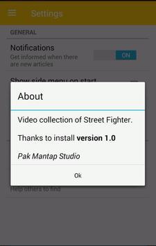 Videos of Street Fighter Games apk screenshot