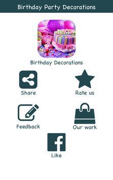 Birthday Decoration Ideas poster