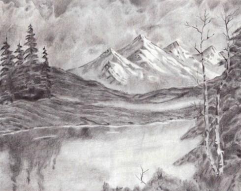 6300 Koleksi Contoh Lukisan Pensil Pemandangan Gratis Terbaik