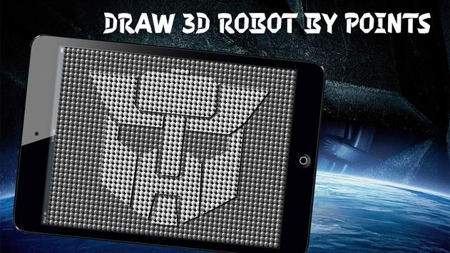 3D Painting World Robot Draw poster