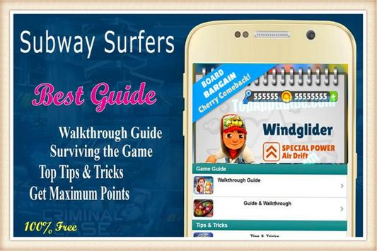 Surfers Guide By Subway poster