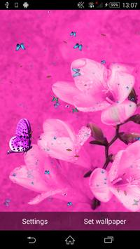 Pink Flowers Live Wallpaper poster