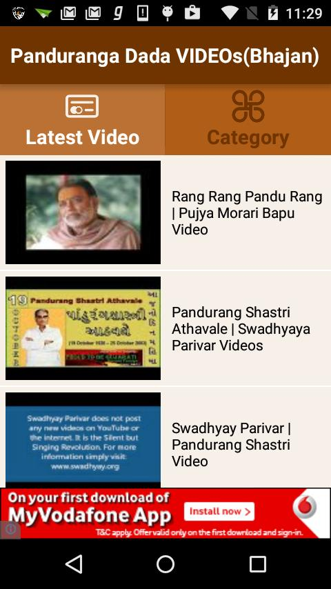 Panduranga Dada VIDEOs(Bhajan) for Android - APK Download