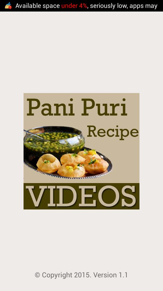 Pani Puri Recipes VIDEOs for Android - APK Download