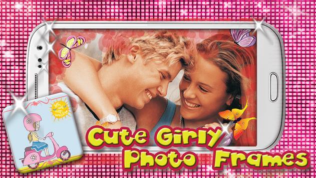 Cute Girly Photo Frames apk screenshot
