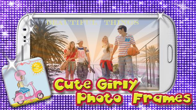 Cute Girly Photo Frames poster