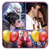 New Year Photo Collage Art icon
