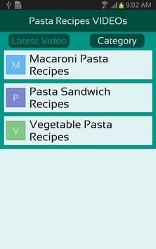 Pasta Recipes VIDEOs apk screenshot