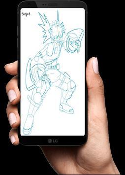 How To Draw Boku No Hero screenshot 22