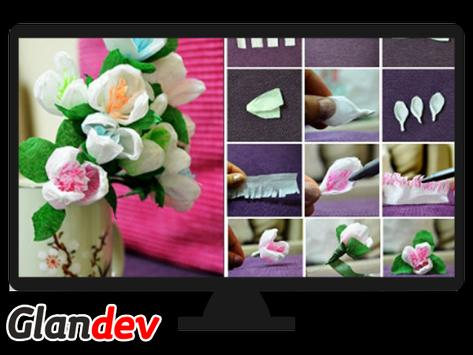 Paper Flower Craft Tutorial screenshot 7