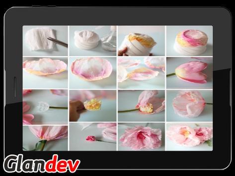 Paper Flower Craft Tutorial screenshot 3