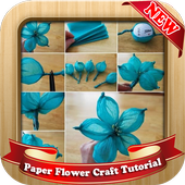 Paper Flower Craft Tutorial icon