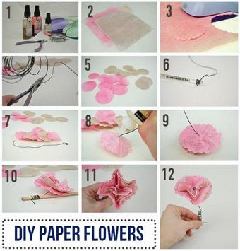 Paper Flower Tutorial apk screenshot