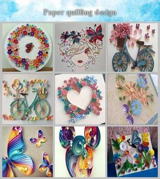 Paper quilling design poster
