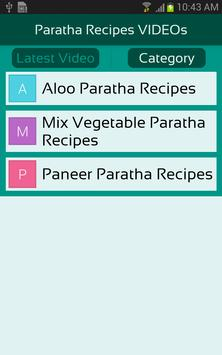 Paratha Recipes VIDEOs apk screenshot