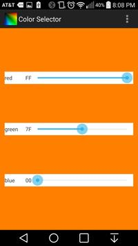 Color Selector apk screenshot