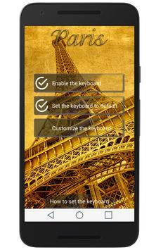 Paris Keyboard apk screenshot