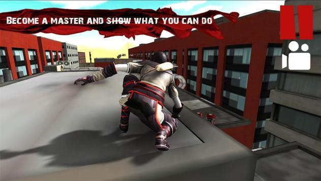 Parkour Ninja Samurai 3D poster