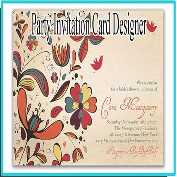 Party Invitation Card Designer poster